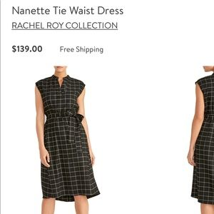Rachel Roy Collection Nanette tie waist dress S